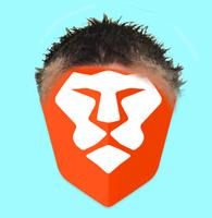 bat brave lion logo just