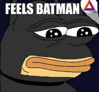 bat pepe feels bat man