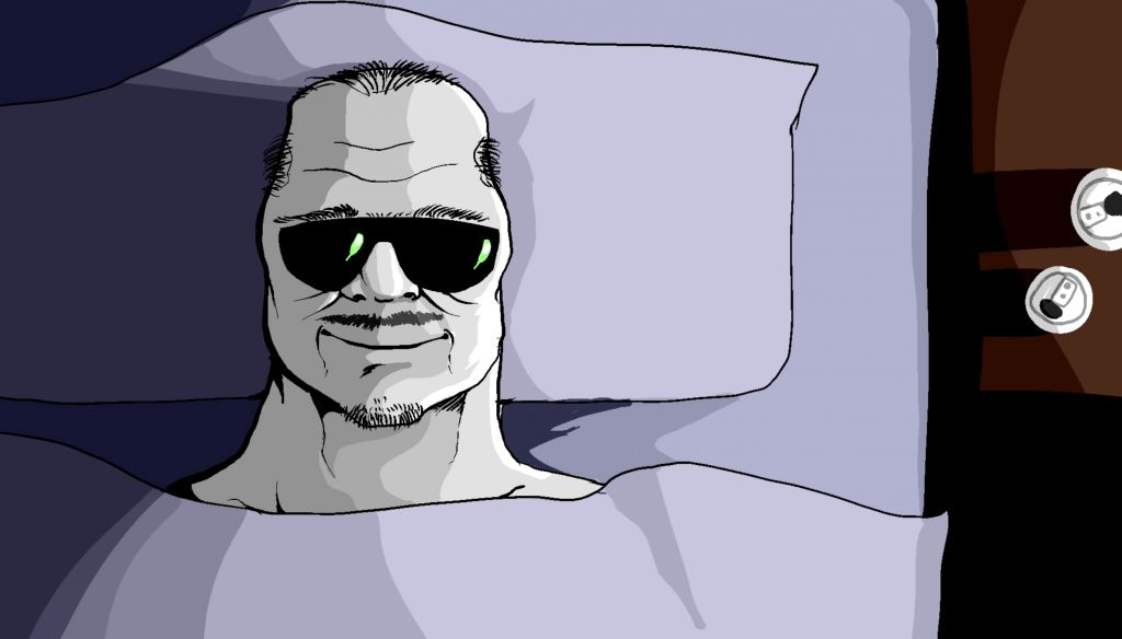boomer in bed