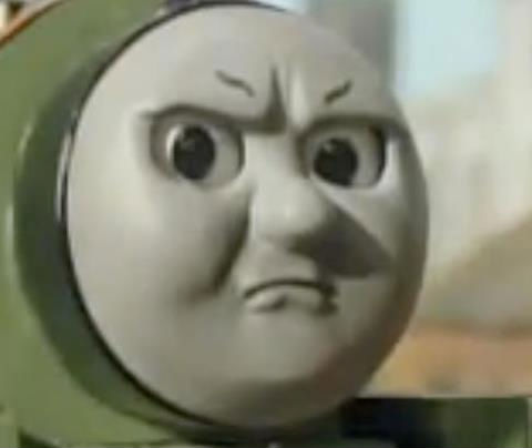 angry thomas tank engine