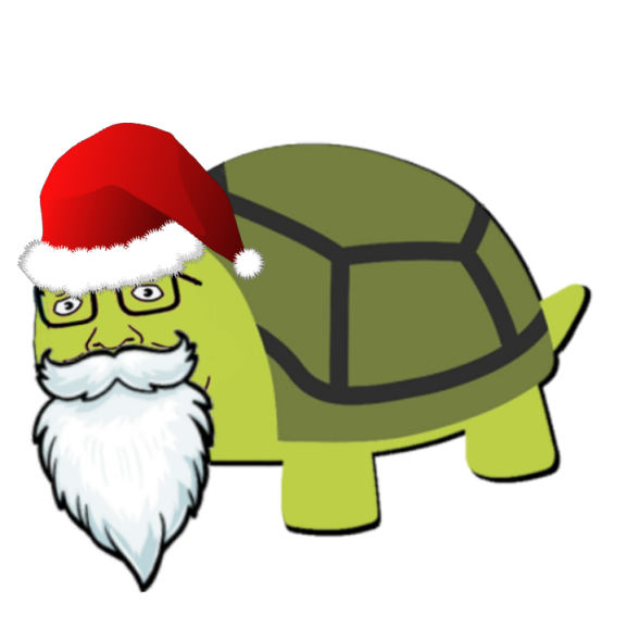 cartoon santa turtle