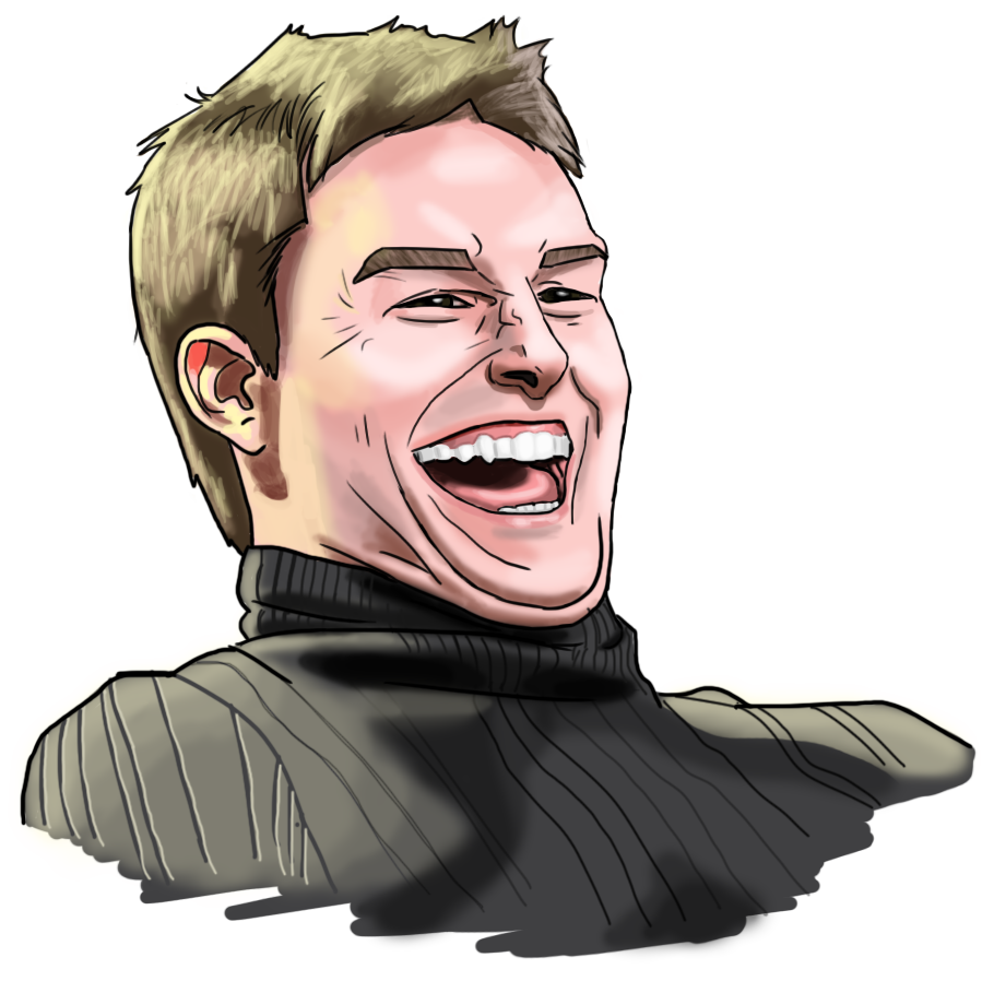 cartoon tom cruise laughing