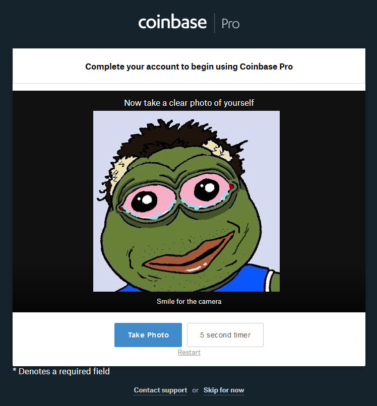 coinbase account verification