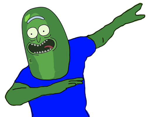 dabbing pickle rick