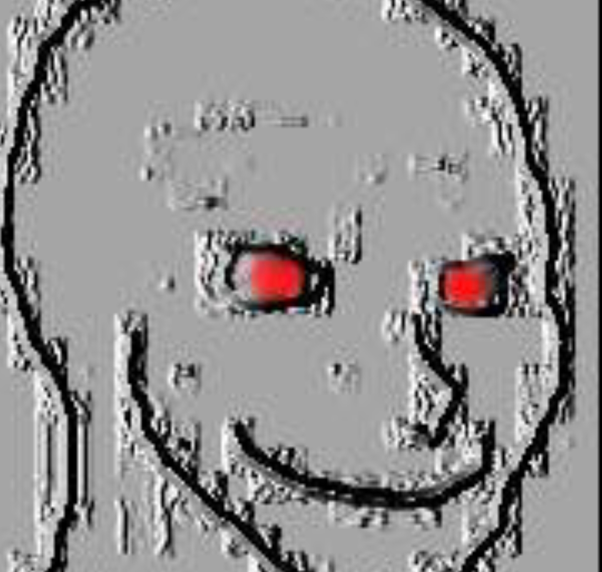 grey glitch wojak