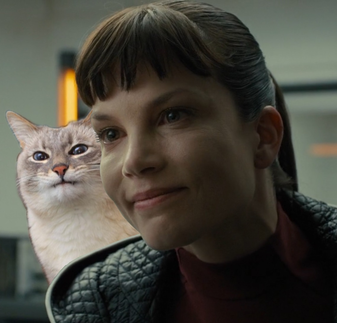 intimidating cat lady bladerunner