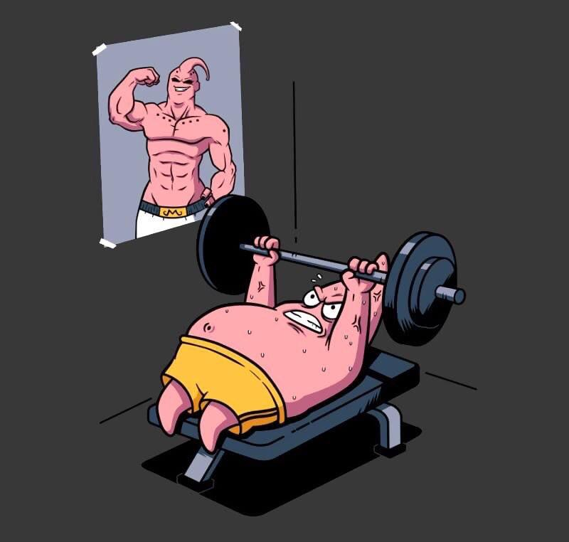 patrick spongebob gets buff
