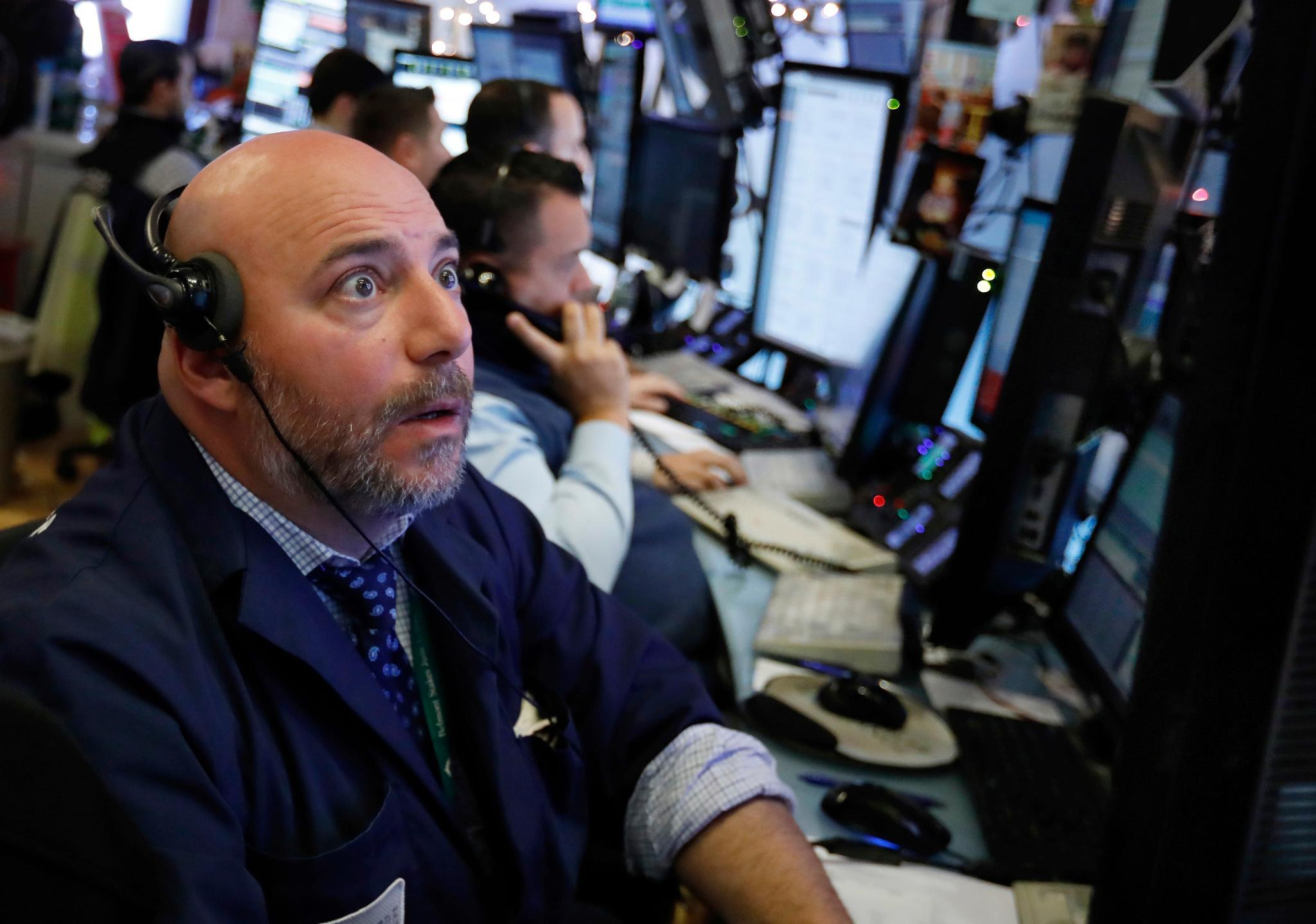 shocked stock trader