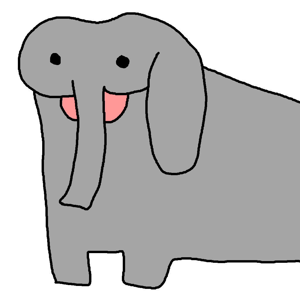 simple cartoon elephant