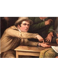 guy in old painting wants paid meme template