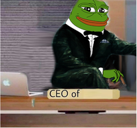 pepe ceo of 2 meme template