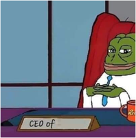 pepe ceo of meme template